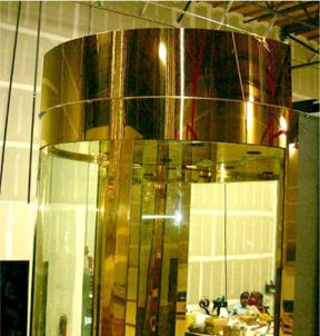 round glass elevators