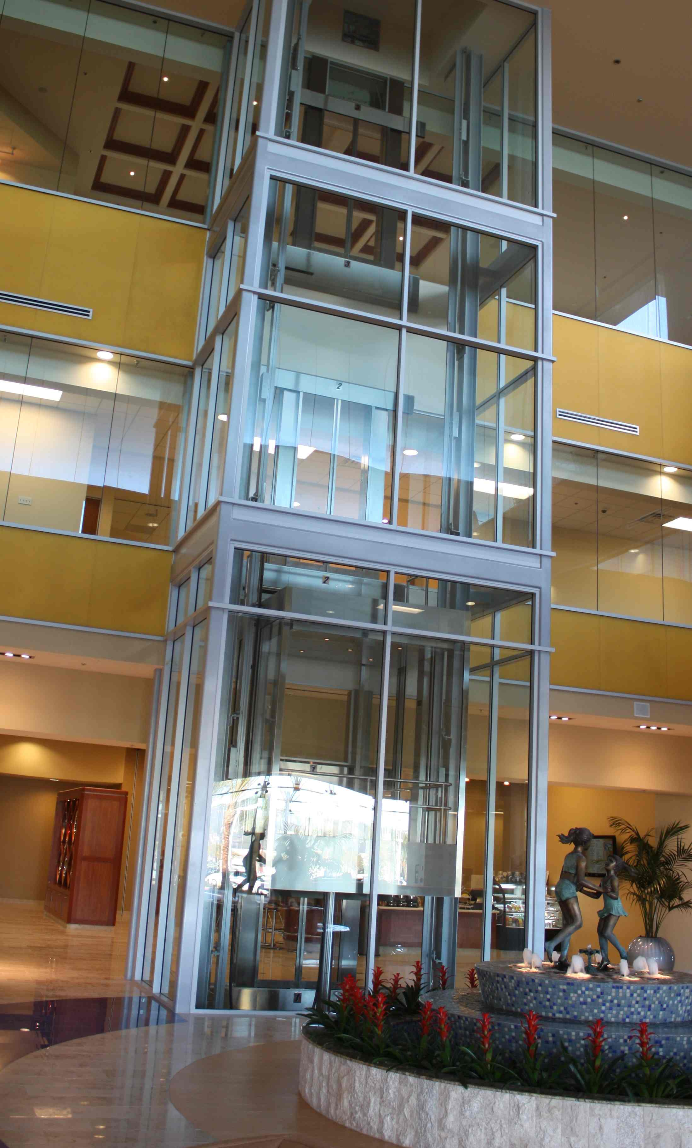 glass elevators